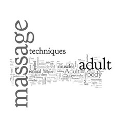 adult massage vector image