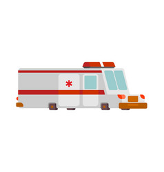 ambulance car cartoon style health care car vector image