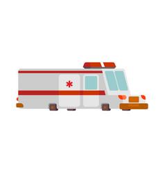 ambulance car cartoon style health care car vector image