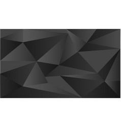 background template with triangle shapes on black vector image