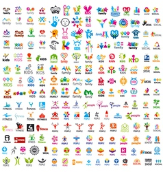 biggest collection of logos people vector image