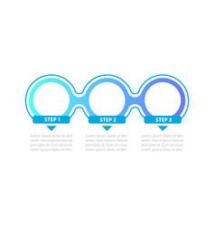 blue gradient circles steps infographic template vector image