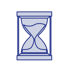 blue silhouette of sand clock icon vector image