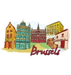 Brussels doodles vector