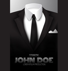 Businessman suit promotional poster vector