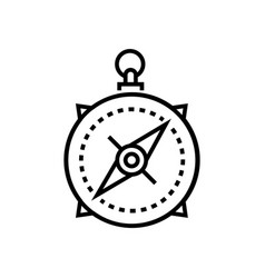 Compass - line design single isolated icon vector