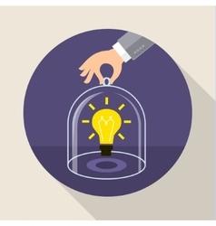 Concept saving intellectual property vector