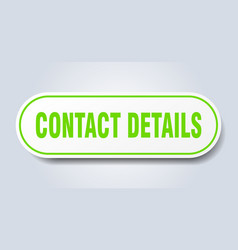 contact details sign rounded isolated button vector image