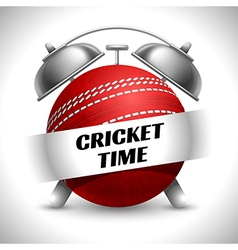 Cricket time concept vector