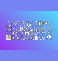 Cryptocurrency colorful - bitcoins vector