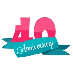 Cute Template 40 Years Anniversary Sign vector