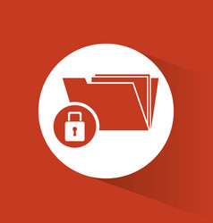 Cyber secuirty information folder file lock vector