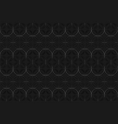 dark background with repetitive circle pattern vector image