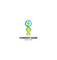 dna logo icon template vector image