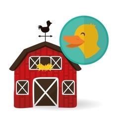 Farm design animal icon white background vector image