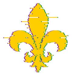 Fleur de lis heraldic lily mardi gras symbol vector