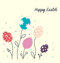 Flowers from easter eggs vector