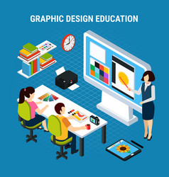 graphic design education vector image
