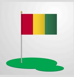 Guinea flag pole vector
