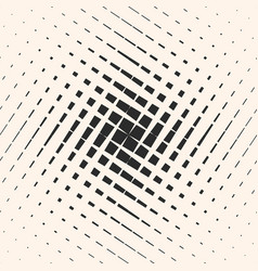 Halftone geometric pattern with crossing lines vector