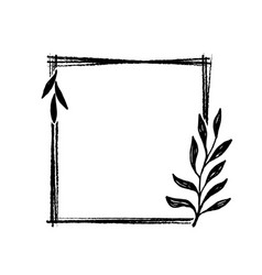hand drawn frame doodle black and white hand vector image