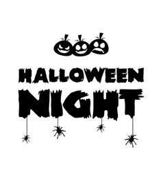 happy halloween day design background vector image