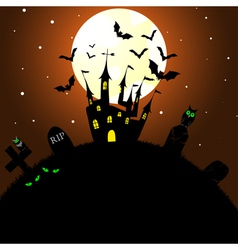 happy halloween theme greeting card vector image