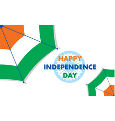 Happy independence day of india vector