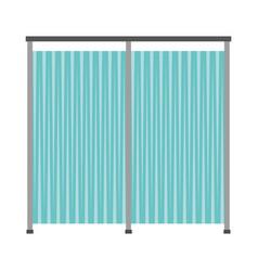 Hospital dividing curtain isolated icon vector