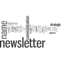 How to create a newsletter name vector