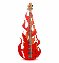 illustration of bass guitar vector image