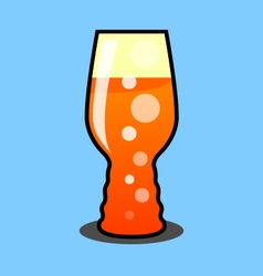 IPA Beer Glass vector image