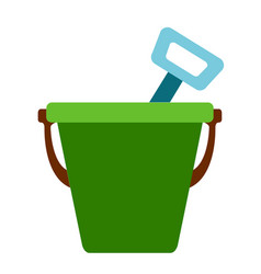 isolated sand bucket icon vector image