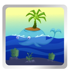 isolated Whale vector image