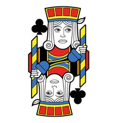 Jack of Clubs no card vector image