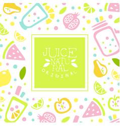juice natural banner template original design vector image