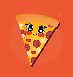 kawaii food design vector image