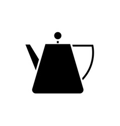 kettle tea - tea spot icon vector image