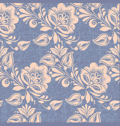 khokhloma style seamless pattern background vector image