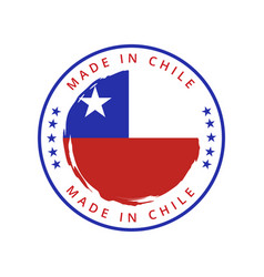made in chile round label vector image
