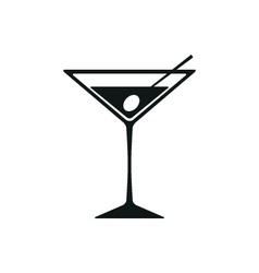 Martini Icon Isolated on White Background vector image