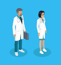 medical workers people set vector image