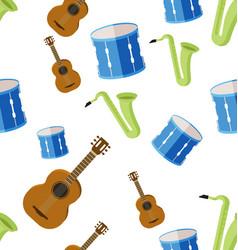 Music seamless pattern vector