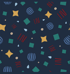 navy abstract geometric seamless pattern vector image