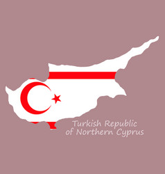 Northern cyprus region map grey outline on white vector