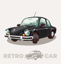 old black car retro vintage vector image