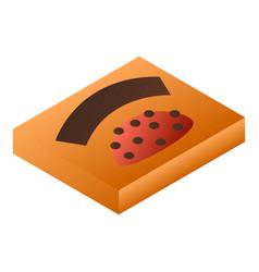 orange chocolate box icon isometric style vector image