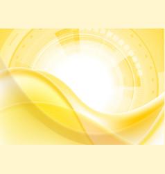 orange digital technology futuristic wavy vector image vector image