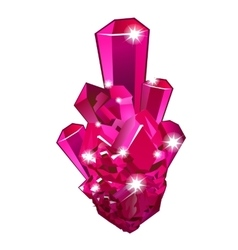 Piece raw crystal ruisolated vector