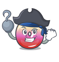Pirate jelly ring candy character cartoon vector